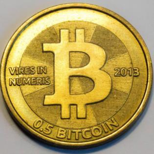 Pièce bitcoin de Casascius pile