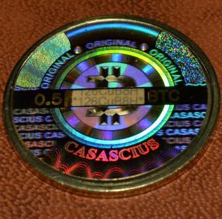 Pièce bitcoin de Casascius face