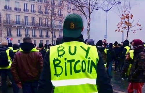 Buy Bitcoin gilet jaune