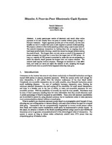 Aperçu du livre blanc de Bitcoin