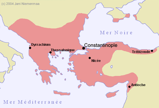 Empire byzantin en 1180