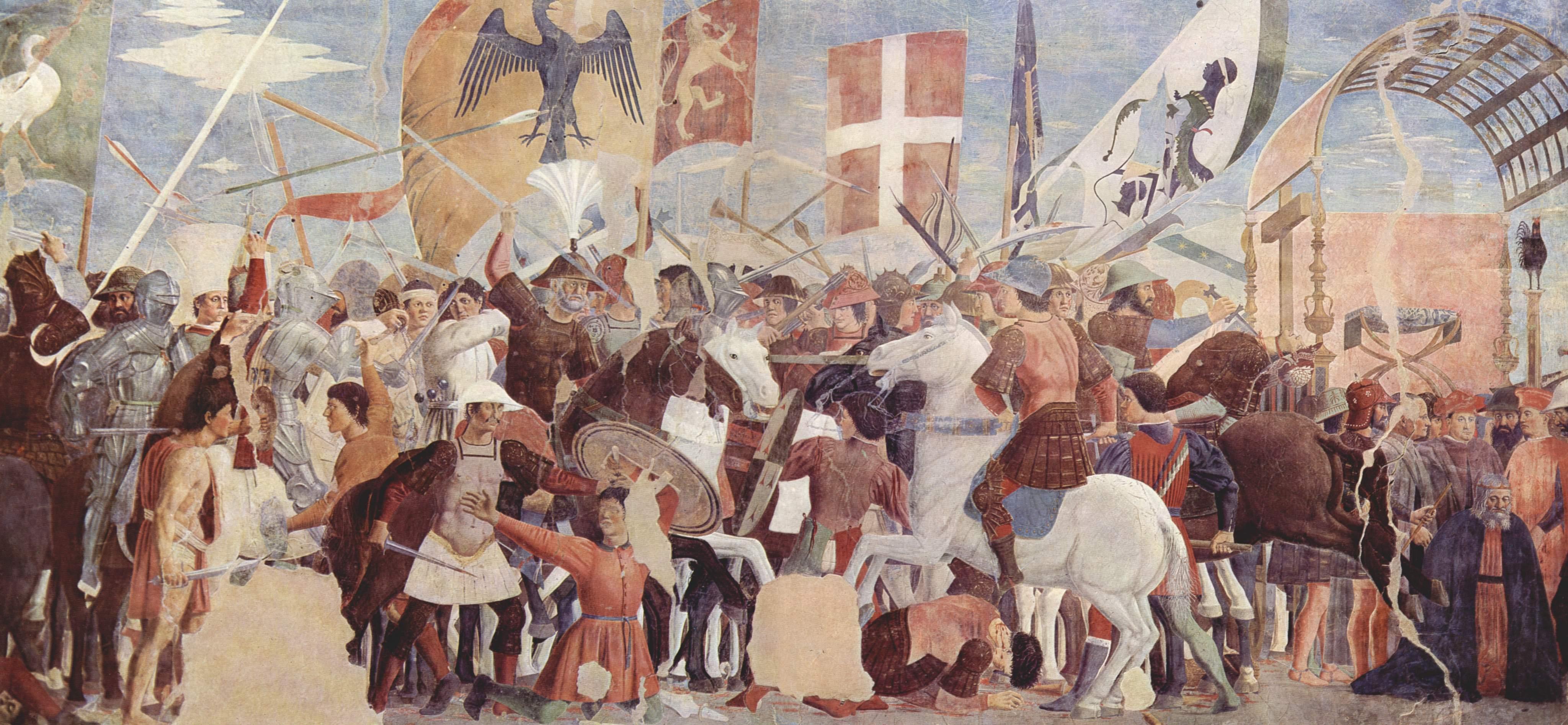 Bataille de Ninive (627) par Piero della Francesca