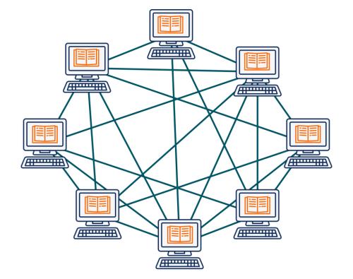 Réseau pair-à-pair blockchain