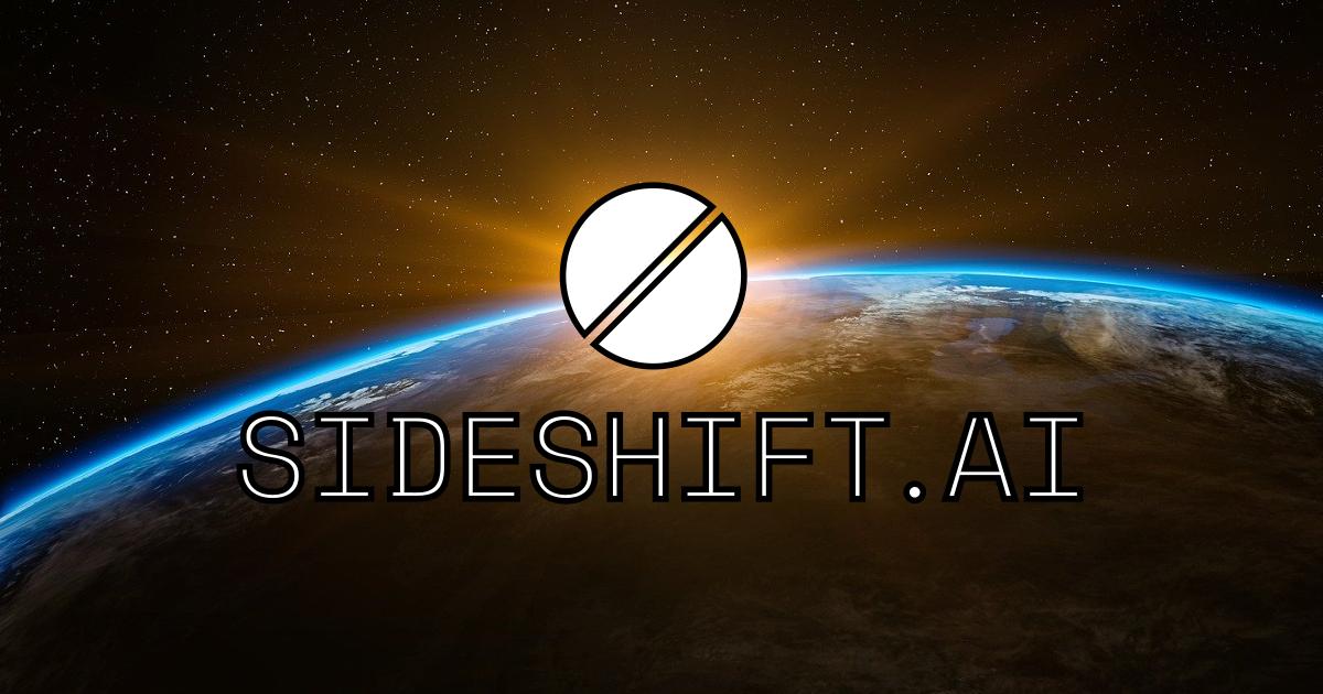SideShift AI planète terre lever de soleil