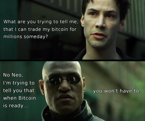 Morpheus Neo Bitcoin millions